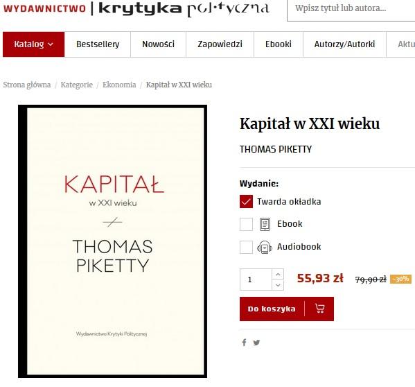 Kapitał w XXI wieku Thomas Piketty Wydawnictwo Krytyka Polityczna
