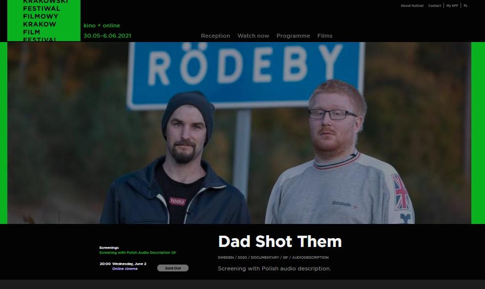 """""""Tato ich zastrzelił"""" (2020), reż. Per Anders Rudelius. 61. Krakowski Festiwal Filmowy"""